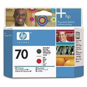 HP C9409A náplň č.70 matte black + red (pro Designjet Z2100, Z3100 a Z3200)