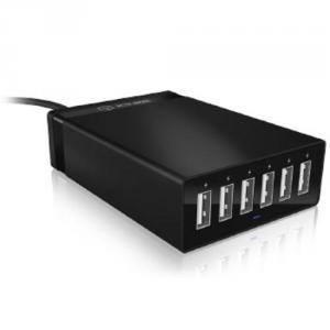 RAIDSONIC ICY BOX IB-CH601 externí nabíjecí multiport panel (6x USB nabíjecí), černý