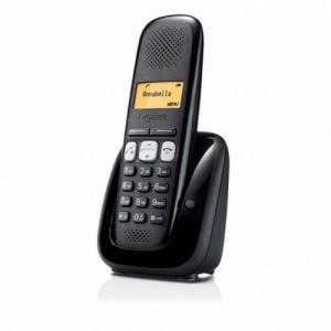 SIEMENS Gigaset A250 bezdrátový telefon, podsvícený display, černý