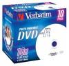 VERBATIM 43521 DVD-R 10jewel 16x printable media (krabice=10x10pack)