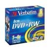VERBATIM 43565 DVD+RW 5jewel 4x 8cm media (doporuceno pro camcordery) (krabice=4x5pack)