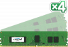 CRUCIAL 16GB=4x4GB DDR4 ECC Registered 2133MHz PC4-17000 CL15 1.2V Single Ranked x8
