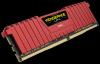 CORSAIR 16GB=2x8GB DDR4 3000MHz VENGEANCE LPX RED PC4-24000 CL15-17-17-35 1.35V XMP2.0 (16GB=kit 2ks 8GB s chladičem červený